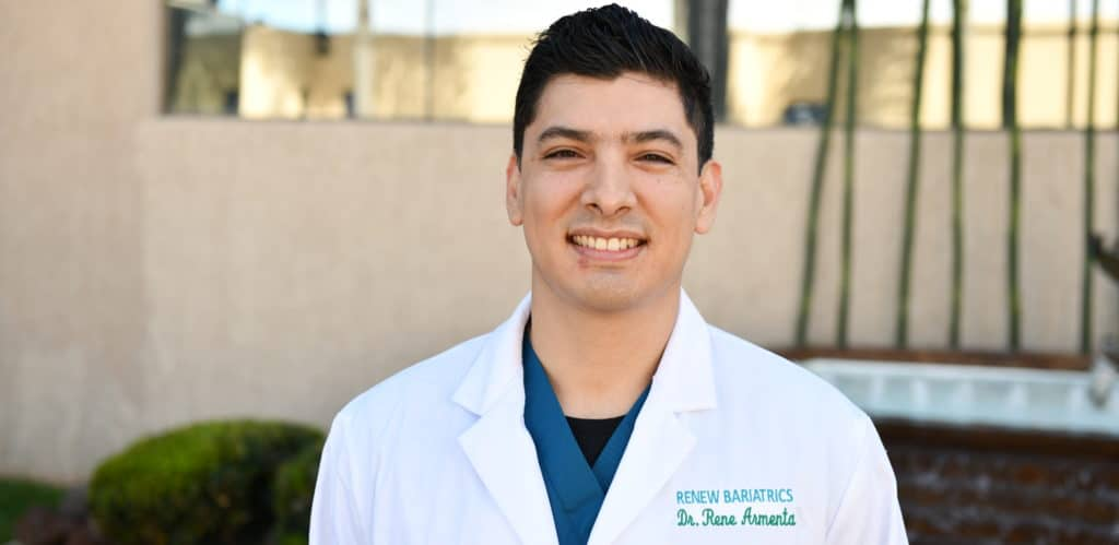 Dr. Armenta outside Hospital