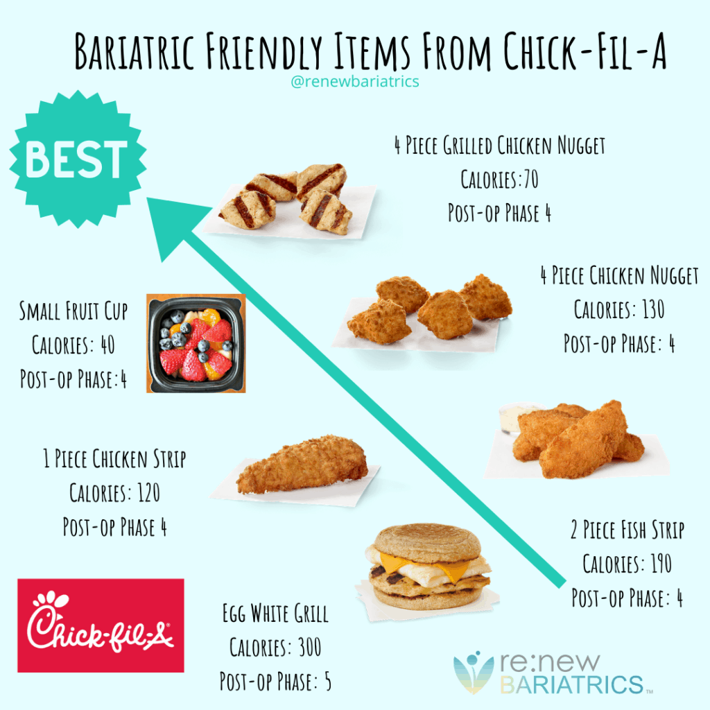 Bariatric Friendly Items From Chick-Fil-A