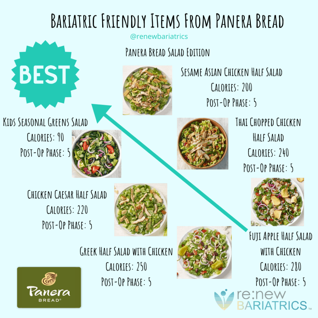 Bariatric Friendly Salads From Panera Bread