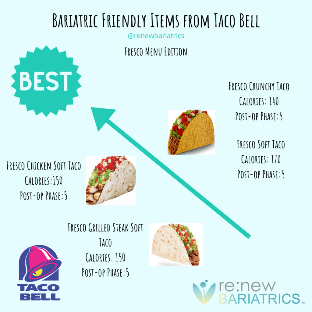 Bariatric Friendly Items from Taco Bell 2