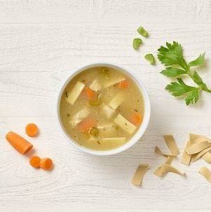 Kids Mac & Cheese and Soups Kids Low-Fat Chicken Noodle SoupKids Low-Fat Chicken Noodle Soup