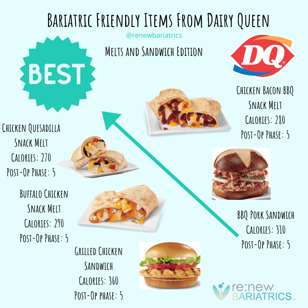 Bariatric Friendly Items From Dairy Queen