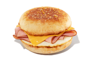 Ham, Egg and Cheese Sandwich on English Muffin