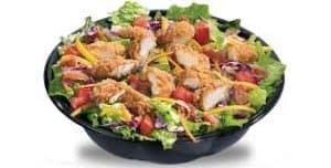 Crispy Chicken Garden Green Salad